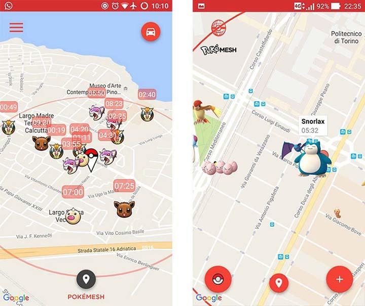 pokemon-go-pokemesh-app-android PokéRadar para Pokémon GO en Android y iOS - Android iOS Trucos Pokémon GO