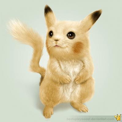 Real-Pikachu-399x400 25 INCREÍBLES dibujos realistas de Pokemon - Noticias Pokémon GO