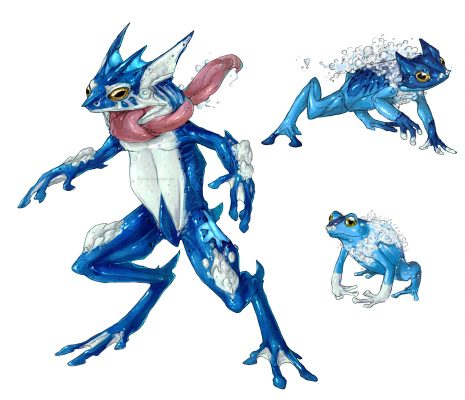 Realistic-Pokemon-Froakie-465x400 25 INCREÍBLES dibujos realistas de Pokemon - Noticias Pokémon GO