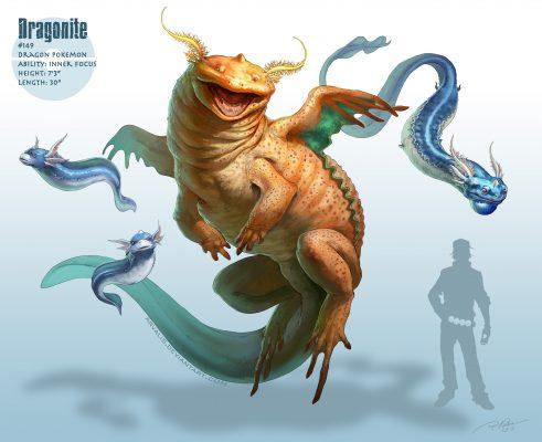 Realistic-dragonite-491x400 25 INCREÍBLES dibujos realistas de Pokemon - Noticias Pokémon GO