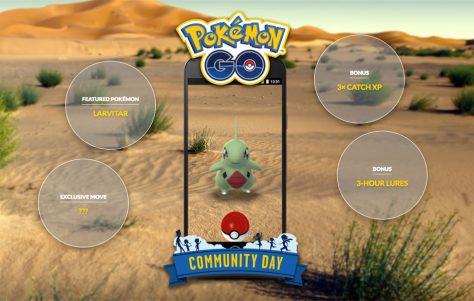 Pokemon GO: Guía para el Día de la Comunidad Larvitar